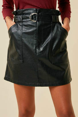 Hayden Faux Leather Skirt