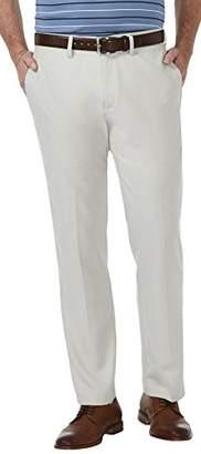 Haggar Men's Cool 18 Pro Straight Fit Flat Front Superflex Waistband Pant