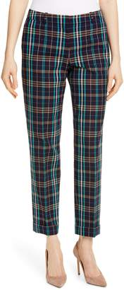 BOSS Tocanes Check Plaid Ankle Trousers