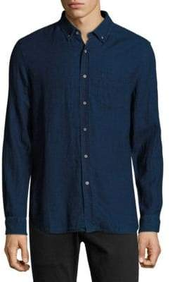 AG Jeans Cotton Button-Down Long-Sleeve Shirt