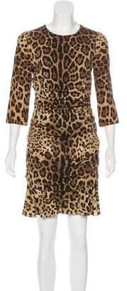Dolce & Gabbana Leopard Print Silk Dress