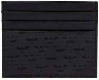 Emporio Armani emblem card wallet