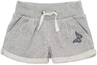 Butterfly Detail Cotton Sweat Shorts