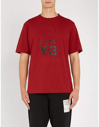 Y-3 Y3 Logo-embroidered cotton-jersey T-shirt