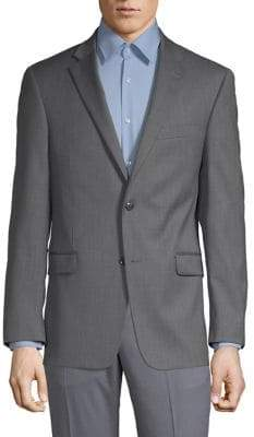Tommy Hilfiger Wood-Blend Notch Lapel Sports Jacket