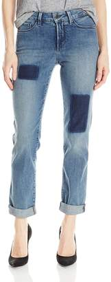 NYDJ Women's Sylvia Relaxed Boyfriend Jeans with Shadow Patch Treatment
