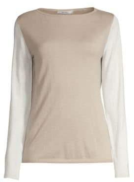 Max Mara Women's Nardo Cashmere Colorblock Sweater - Beige - Size Large