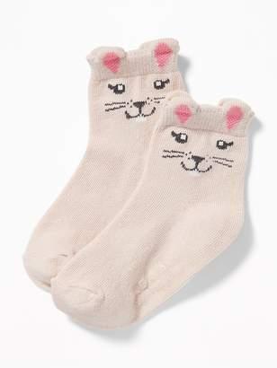 Old Navy Critter Crew Socks for Toddler & Baby