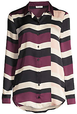 Equipment Women's Essential Striped Colorblock Blouse