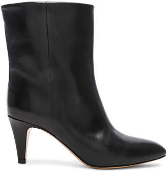 Isabel Marant Leather Dailan Boots in Black | FWRD