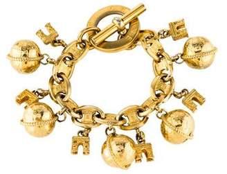 Celine Arc De Triomphe & Globe Charm Bracelet