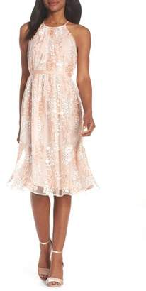 Maggy London Trailing Daisy Lace Midi Dress