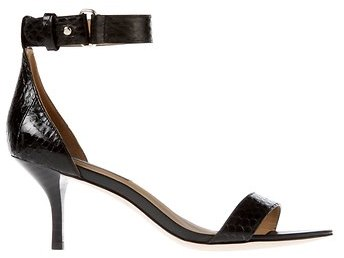 Ann Taylor Mara Exotic Leather Kitten Heel Sandals