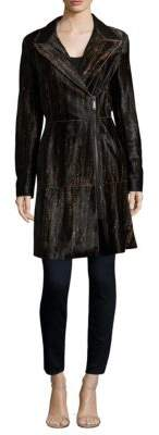 Elie Tahari Aliza Leopard Printed Coat