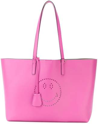 Anya Hindmarch perforated Smiley shopper tote