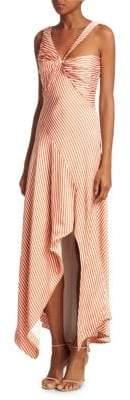 Jonathan Simkhai Stripe Twist Ruffle Dress