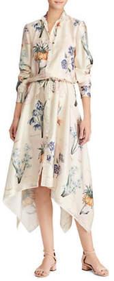 Lauren Ralph Lauren Petite Petite Long-Sleeve Floral Shirtdress
