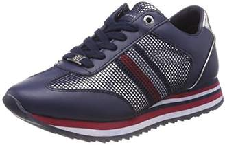 95140e65e0e1a Tommy Hilfiger Women s Tommy Corporate Flag Sneaker Low-Top (White ...