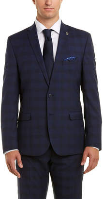 Nick Graham 2Pc Slim Fit Suit With Pleated Pant