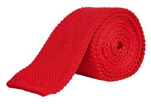 Burton Mens Red Knitted Straight End Tie