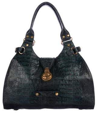 Francesco Biasia Embossed Leather Shoulder Bag