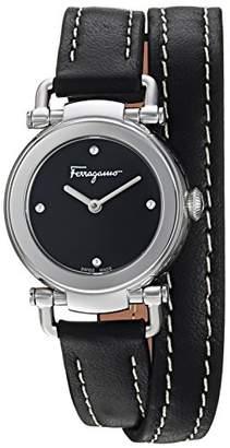 Salvatore Ferragamo Women's 'GANCINO Casual' Quartz Stainless Steel and Leather Watch