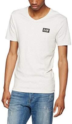 G Star Men's Drillon V T S/S T-Shirt, (White HTR 129), XXL