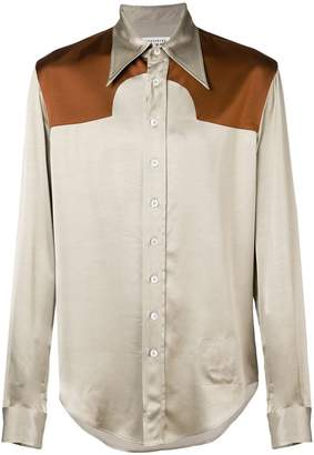 Maison Margiela contrast long-sleeve shirt