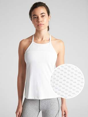 Gap GapFit High-Neck Mesh Insert Shelf Tank Top