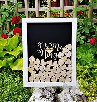 Laurèl Pulitzer Wedding Guest Book Alternative Rustic Wood,Wedding Guest Book Personalized Drop Top box Heart Guestbook Custom guestbook Memory Box White Black Guestbook