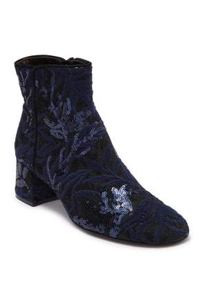 Attilio Giusti Leombruni Leather Sequined Ankle Boot