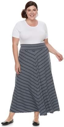 Apt. 9 Plus Size Stripe Maxi Skirt