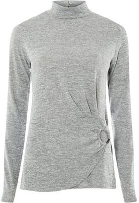 Dorothy Perkins Womens **Tall Grey Slubby Buckle Top