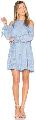 J.O.A. Cold Shoulder Lace Dress $95 thestylecure.com