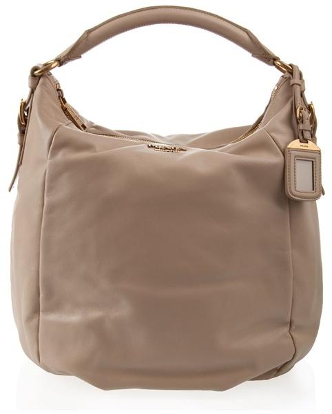 PRADA - Lage calf leather hobo bag