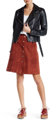 A.L.C. Adrienne Genuine Suede Skirt $945 thestylecure.com