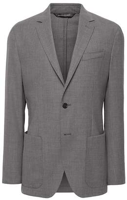 Banana Republic Slim Solid Smart-Weight Performance Wool Blend Suit Jacket