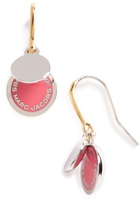 Women's Marc Jacobs Enamel Logo Disc Drop Earrings $55 thestylecure.com