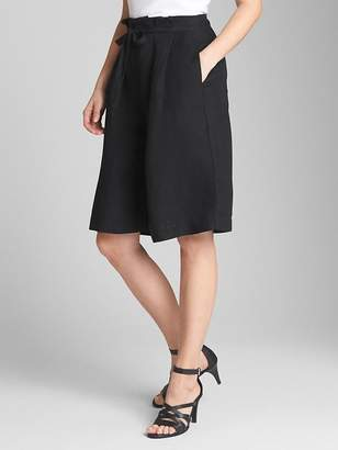 Gap High Rise Tie-Belt Paperbag Culottes