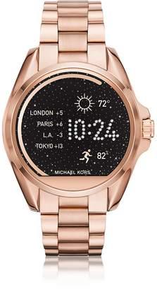 Michael Kors Rose Gold-tone Stainless Steel Bradshaw Women's Smartwatch