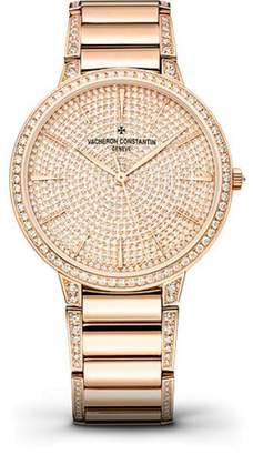 Vacheron Constantin Patrimony 86615/CA2R-9839 18K Rose Gold with Diamond Pave Dial 36.5mm Womens Watch