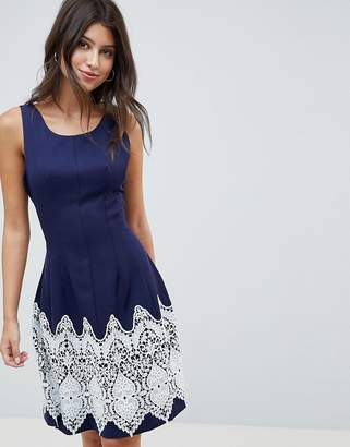 Louche Dress With Contrast Border Print