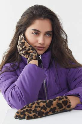 Urban Outfitters Faux Leather Cheetah Print Glove