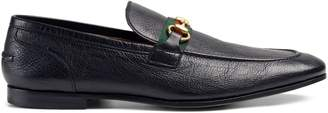 Gucci Horsebit suede loafer with Web