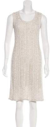 Amina Rubinacci Metallic Sleeveless Dress