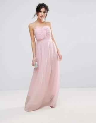 Club L Bridesmaid Chiffon Detail Knot Maxi Dress $60 thestylecure.com