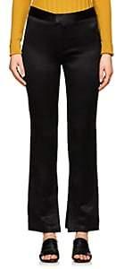 Nomia Women's Polished Plissé Trousers - Black