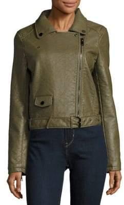 Joe's Jeans Textured Long-Sleeve Moto Jacket