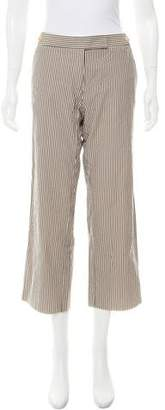 Paul Smith Striped Mid-Rise Pants
