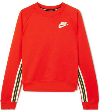 Nike Striped Cotton-jersey Sweatshirt